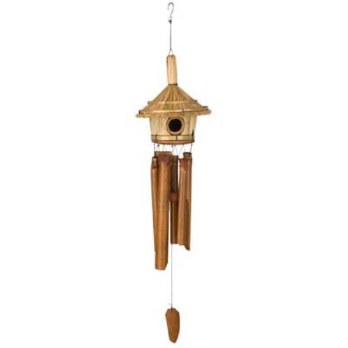 Asli Thatched Roof Birdhouse bamboo chime