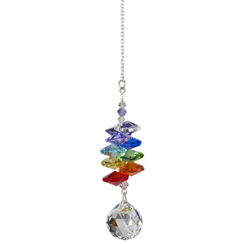 Crystal Cascade Ball Suncatcher