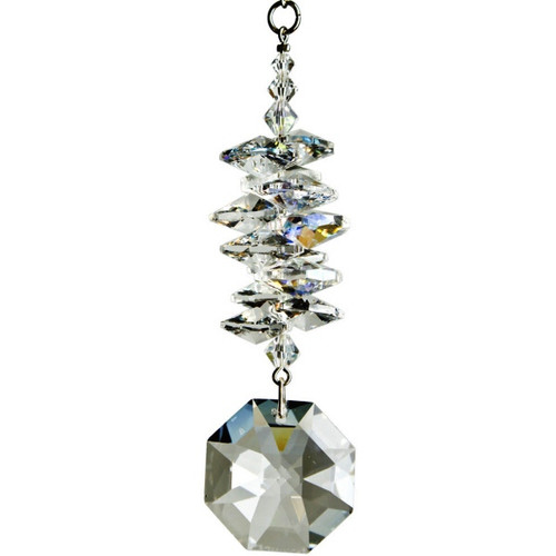 Crystal Ice Cascade, octagon suncatcher
