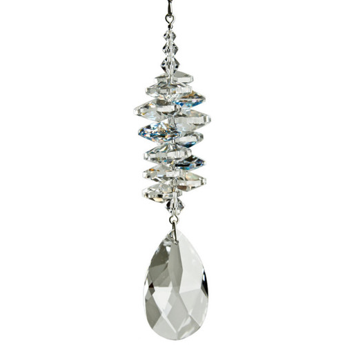 Crystal Ice Cascade Almond Sun Catcher