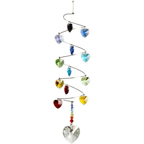 Crystal Spiral Rainbow Hearts