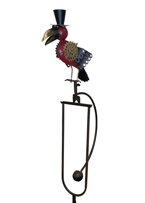 Steampunk Bird Rocker With Top Hat