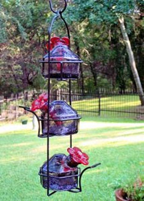 Lunch pail 3 Hummingbird Feeder