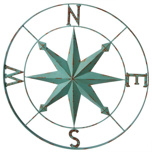 Blue Compass Wall Decor.