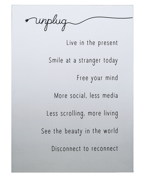 Sign, Unplug Live In The Present