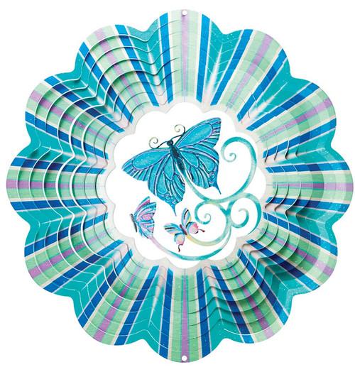 3 D Blue Butterfly Spinner