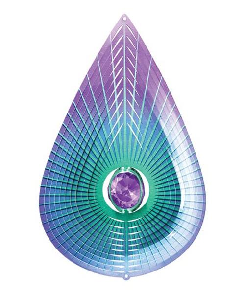Crystal Purple Teardrop Spinner