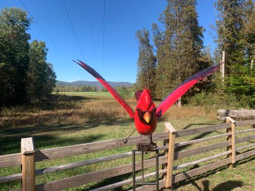 Small Cardinal Rocker Stake