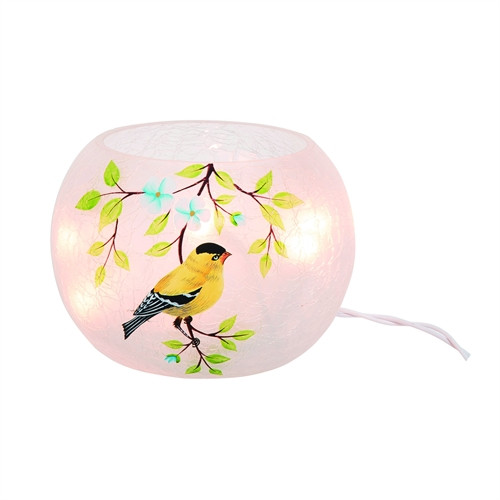 Goldfinch lighted vase