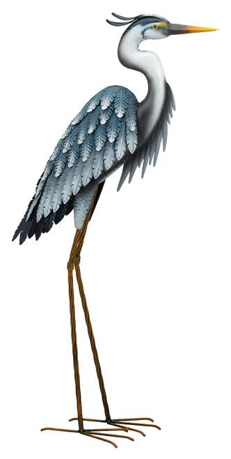 Blue Heron Statue Head Down