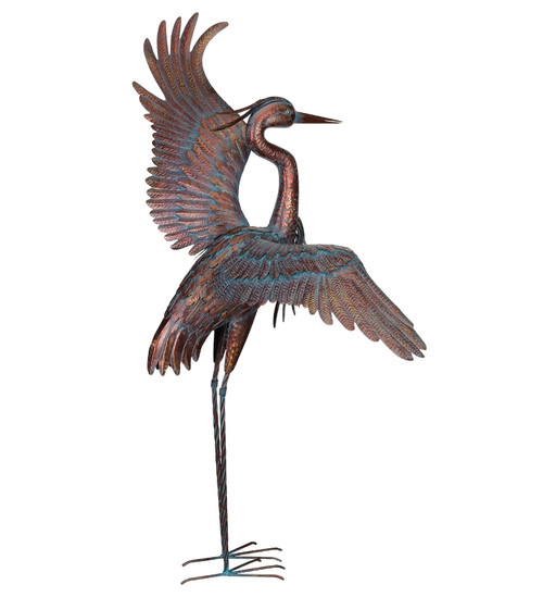 Copper Patina Dancing Heron