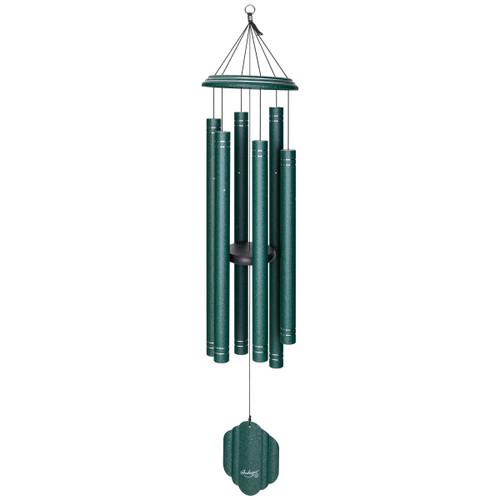 "57"" arabesque wind chime emerald"