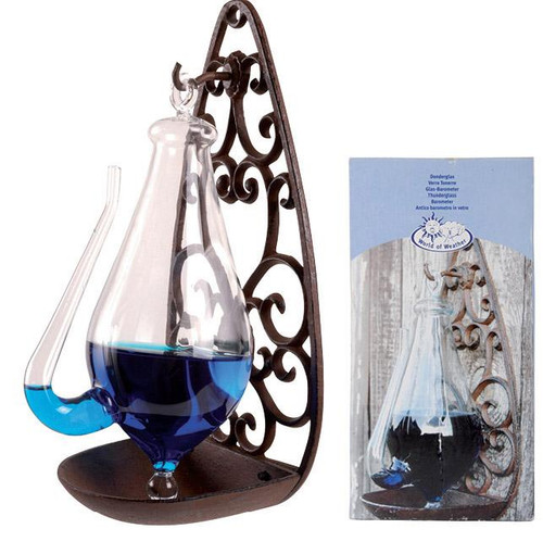 Weather Glass With Cast Iron Holder