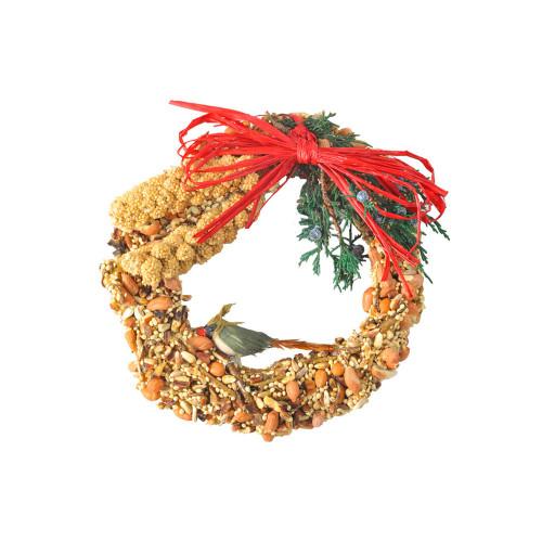 "6"" rustic wreath bird seed"