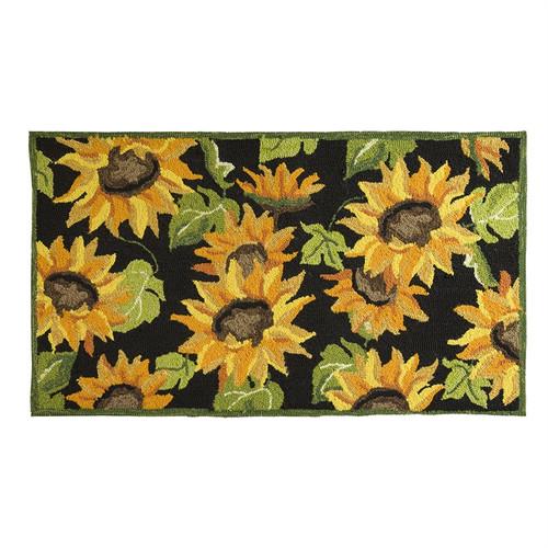Sunflower Hooked Rug