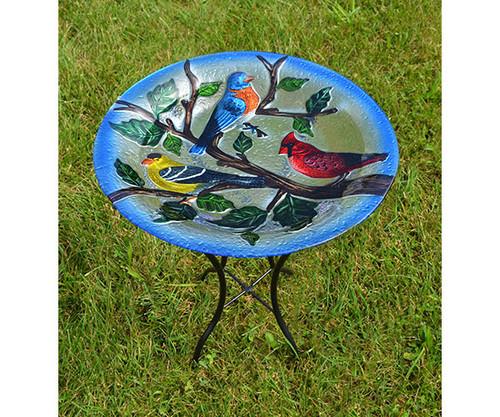 Songbird Trio  Birdbath with Stand