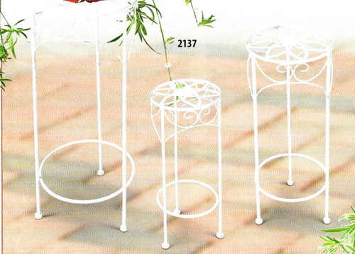 White Metal Plant Stand Large