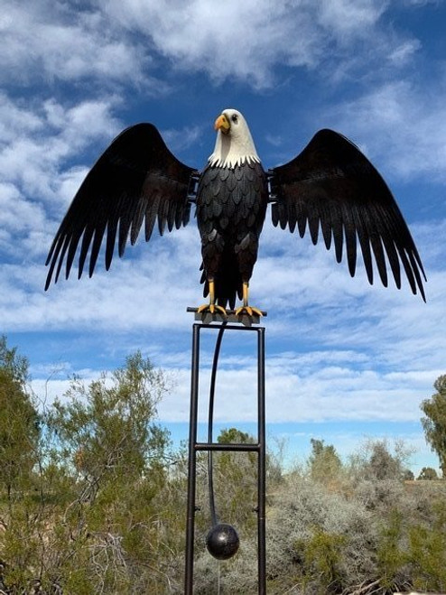 Large Metal Eagle Rocker