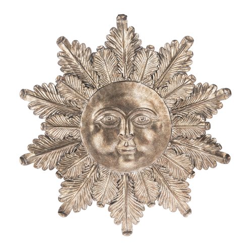 Embossed sunface wall decor