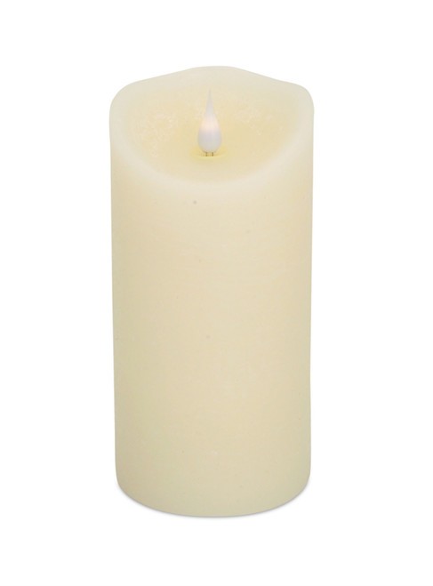 "Cream LED Candle 7.5""H"
