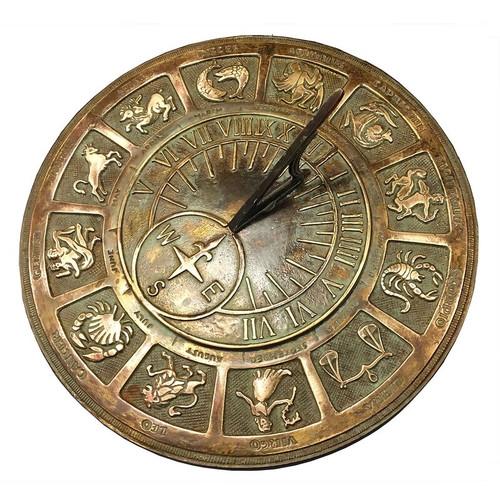 Brass Zodiac Sundial