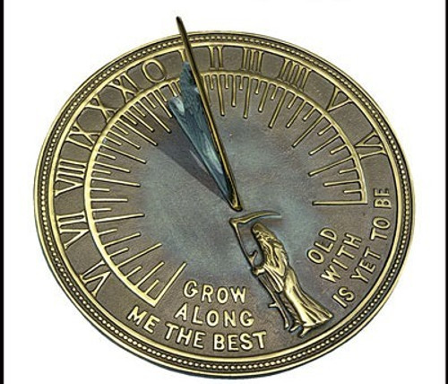 Father Time Brass Sundial