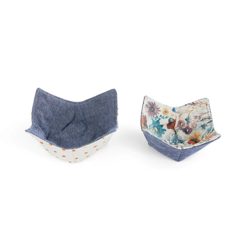 Microwavable Bowl Pot Holder Meadow Flowers