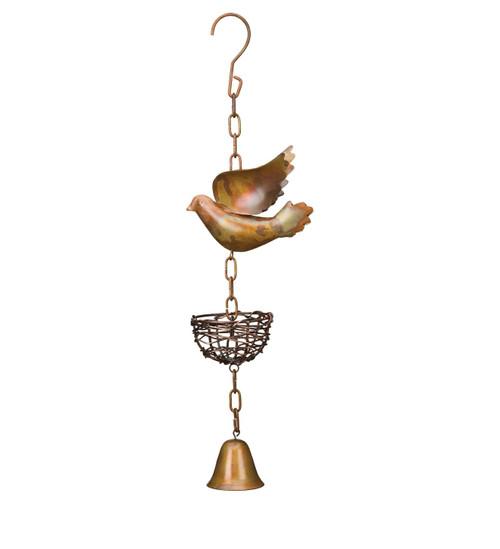 Metal Garden Bell Bird's Nest