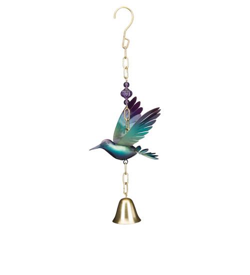 Hummingbird metal garden bell