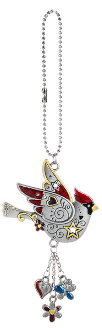 Cardinal Car Charm