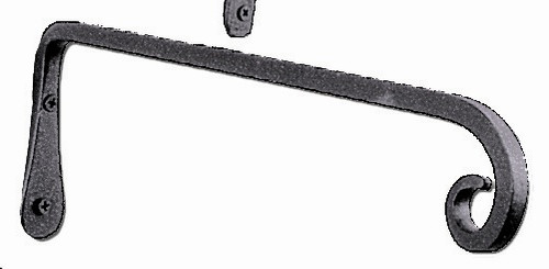 "Wrought Irron Bracket 15"" Straight"