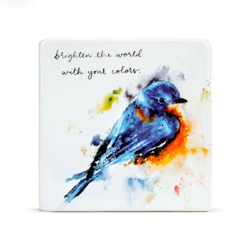 Springtime Bluebird Plaque