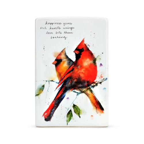 Cardinal pair plaque  by Dean Crouser