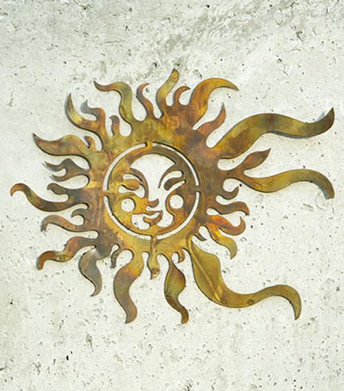 """14"""" Sun Face Wall Art"""