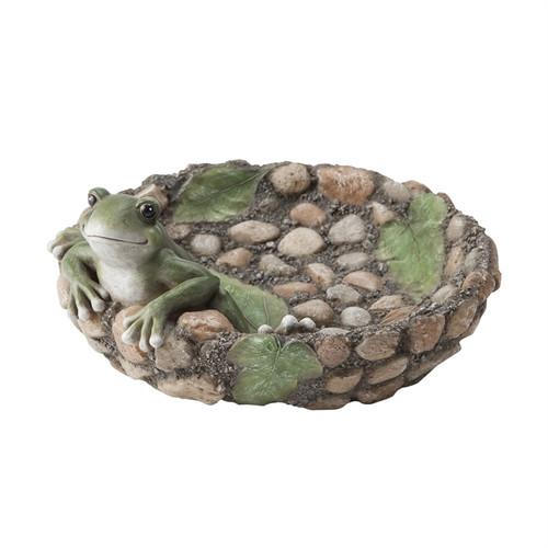 Happy Frog Tabletop Birdbath