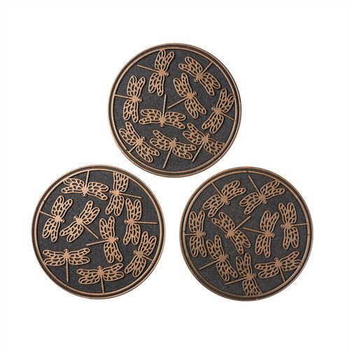 Set of 3 dragonfly stepping stones