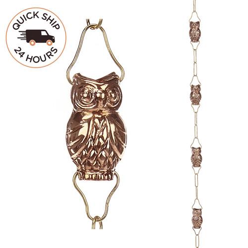 Owl Rain Chain
