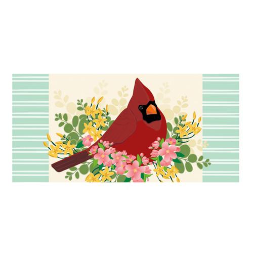 Spring floral cardinal switch mat