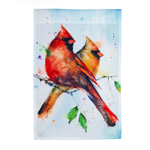 Cardinal Pair Garden Flag