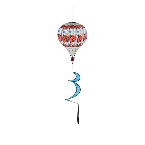 Ladybug Plaid Balloon Spinner
