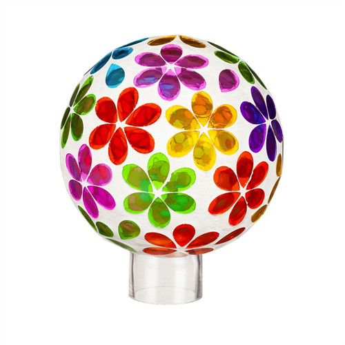 "6"" Glass Gazing Ball bright floral"