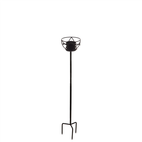 Metal gazing ball stand