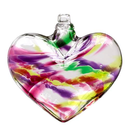 Multi glass heart winter carnival