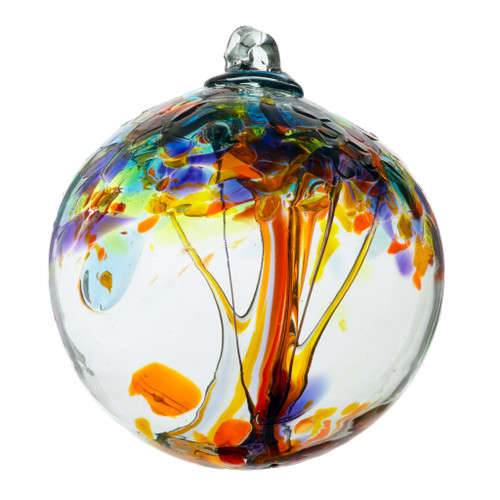 """Pathways Tree of Enchantment glass orb """"Happiness"""""""
