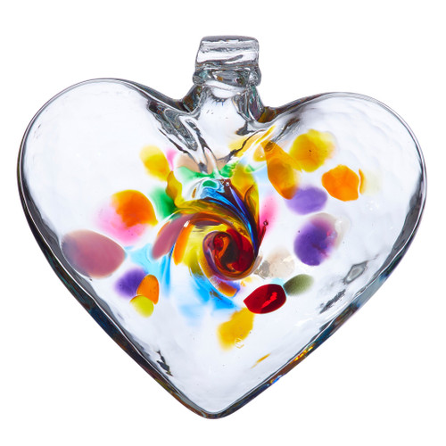 Heart Of Intention Blown Glass Ornament