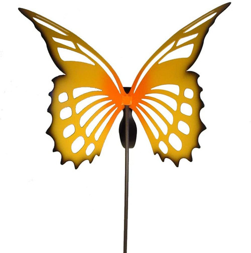 Large yellow Monarch Butterfly Garden Stake