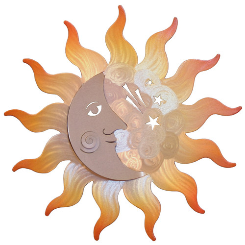 Large Sunburst and Cresant Moon Wall Hanging
