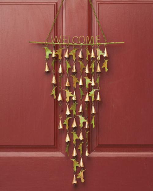 Shimmering bells with hummingbirds