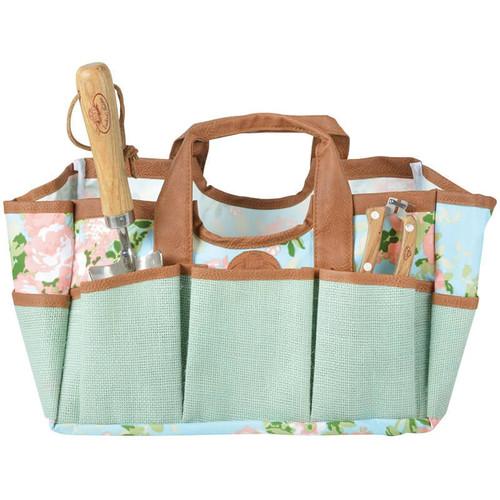 Rose Print Jute Tool Bag