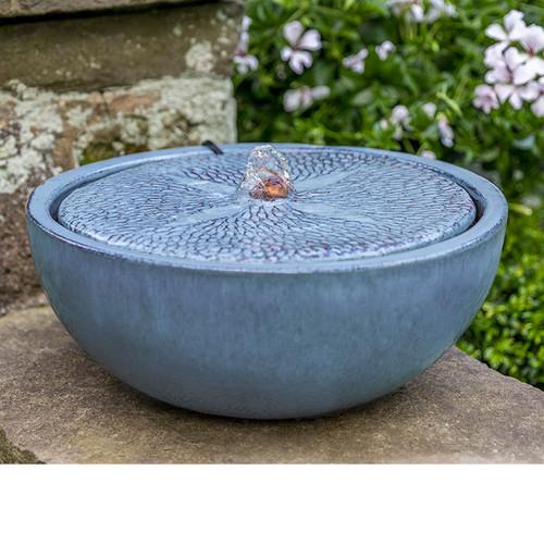 Sand Dollar glazed pottery fountain